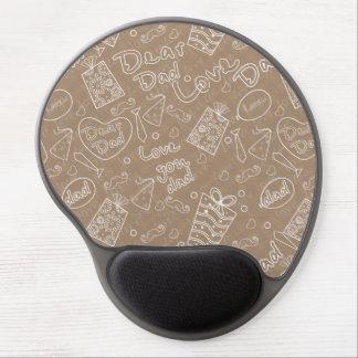 Love You Dad Chalkboard Typography Gel Mousepad
