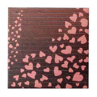 Love You Graffiti Street Art Small Square Tile