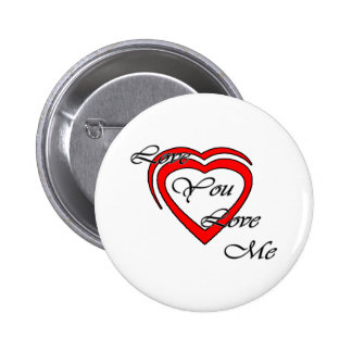 Love You Love Me Grey Hearts Red The MUSEUM Zazzle Buttons