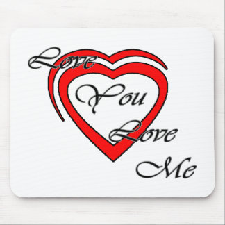 Love You Love Me Grey Hearts Red The MUSEUM Zazzle Mousepads