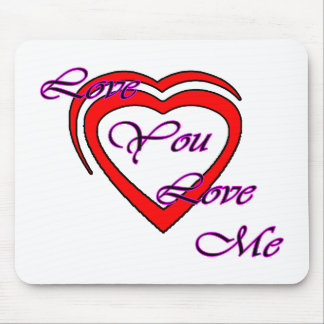 Love You Love Me Magenta Hearts Red The MUSEUM Zaz Mousepads