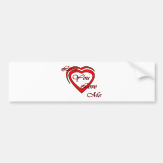 Love You Love Me Red Hearts Red The MUSEUM Zazz Bumper Stickers