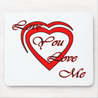 Love You Love Me Red Hearts Red The MUSEUM Zazz Mousepad