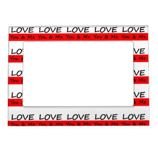 Love You & Me Magnetic Photo Frame