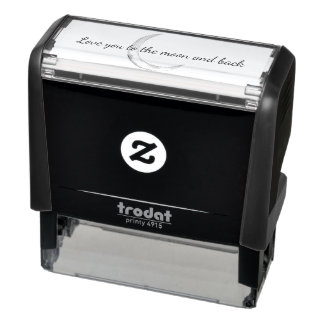 Love You Moon Script Self-inking Stamp