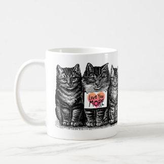 'Love You More' Cute Vintage Cat Mug