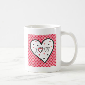 Love You So Much Romance Pink Heart Cute Sweet Basic White Mug