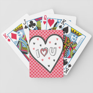 Love You So Much Romance Pink Heart Cute Sweet Bicycle Poker Deck