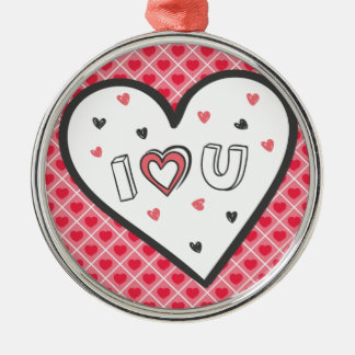 Love You So Much Romance Pink Heart Cute Sweet Christmas Ornament