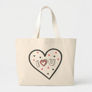 Love You So Much Romance Pink Heart Cute Sweet Jumbo Tote Bag