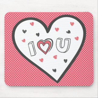 Love You So Much Romance Pink Heart Cute Sweet Mouse Pad