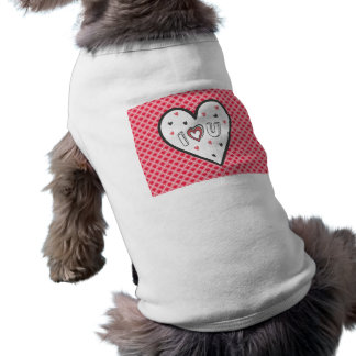 Love You So Much Romance Pink Heart Cute Sweet Sleeveless Dog Shirt