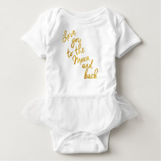 """Love You To the Moon and Back"" Gold Foil Top Tees"