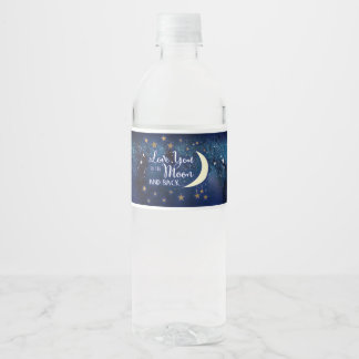 Love you to the Moon and Back Water Bottle Labels