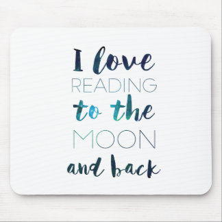 Love You to the Moon Mouse Pad
