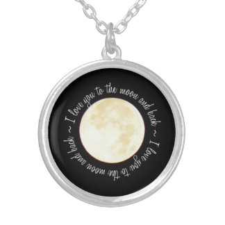 Love You to the Moon Silver Plated Necklace