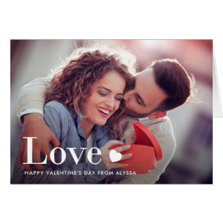 Love | Your Personal Photo and a Heart Card