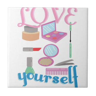 Love Yourself Small Square Tile