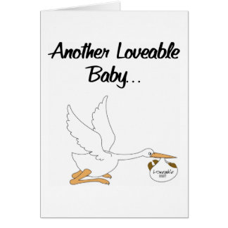 Loveable Babies Birth Announcement Greeting Card