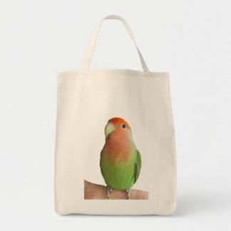Lovebird Peach-Face agapornis roseicollis bag tote