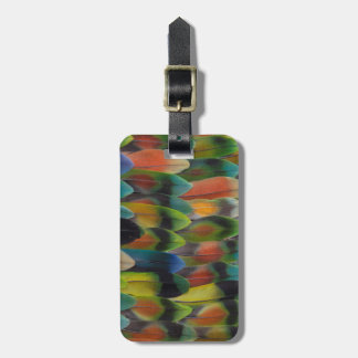 Lovebird Tail Feather Pattern Luggage Tag