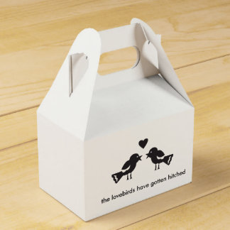 Lovebird Wedding Favor Box Wedding Favour Box