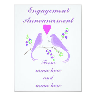 Lovebirds Engagement Announcement wedding set
