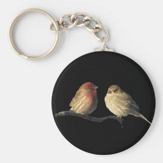 Lovebirds House Finch Birds Key Ring