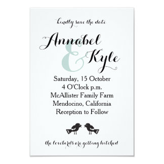 Lovebirds Save The Date Card