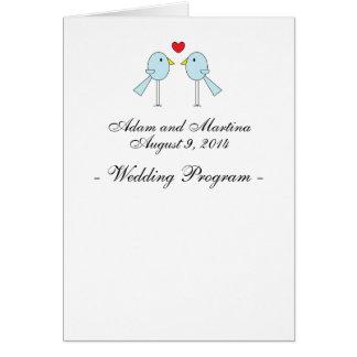 """""""Lovebirds"""" Wedding Programs Card"""