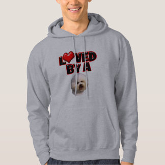 Loved by a Bichon Frise Hoodie