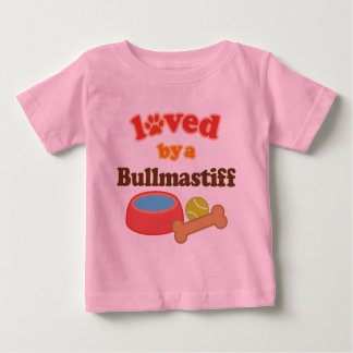 Loved By A Bullmastiff (Dog Breed) Baby T-Shirt
