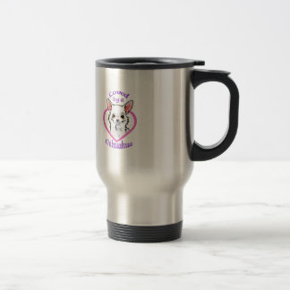 LOVED BY A CHIHUAHUA STAINLESS STEEL TRAVEL MUG