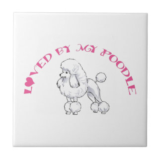 Loved by a Poodle Tiles