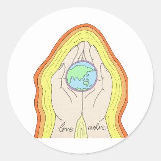 loveevolve round sticker