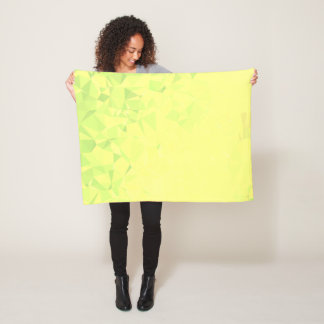LoveGeo Abstract Geometric Design - Dandelion Lime Fleece Blanket