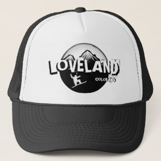 Loveland Colorado black white snowboarder hat