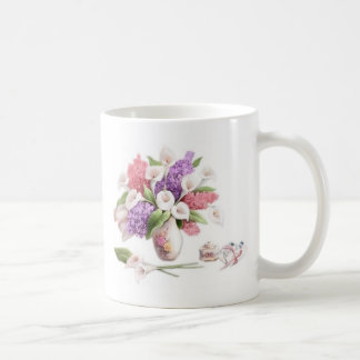 LoveLetters & Lilacs Basic White Mug