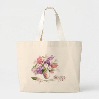 LoveLetters & Lilacs Jumbo Tote Bag