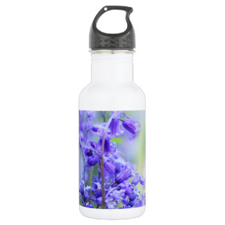 Lovely bluebells close up 532 ml water bottle