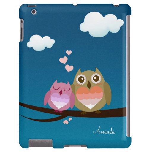 Lovely Cute Owl Couple Full of Love Heart