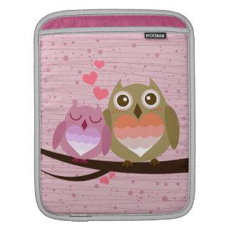 Lovely Cute Owl Couple Full of Love Heart Sleeve For iPads