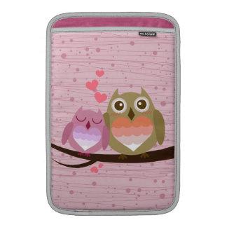 Lovely Cute Owl Couple Full of Love Heart Sleeves For MacBook Air