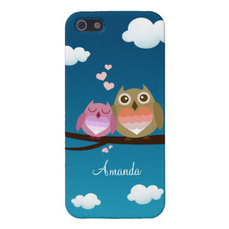 Lovely Cute Owl Couple Full of Love Heart Case For The iPhone 5