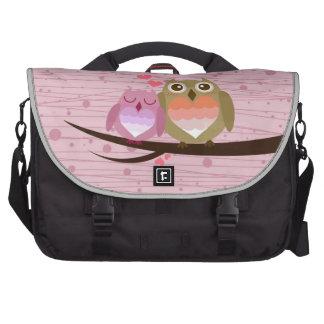 Lovely Cute Owl Couple Full of Love Heart Commuter Bags
