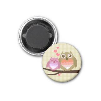 Lovely Cute Owl Couple Full of Love Heart Magnets