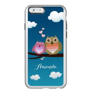 Lovely Cute Owl Couple Full of Love Heart Monogram Incipio Feather® Shine iPhone 6 Case