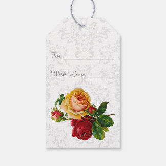 Lovely Damask and Floral Gift Tags