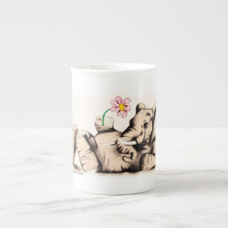 Lovely Elephant Bone China Mug