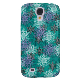 lovely falling snowflakes winter damask galaxy s4 case